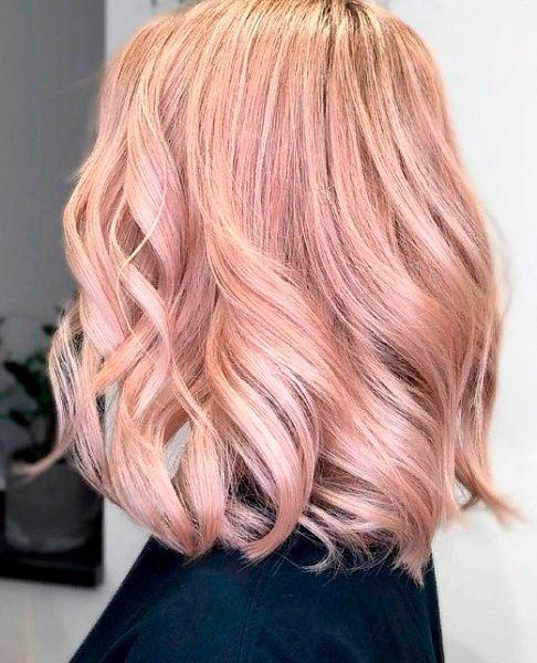 Фото №16: Оттенки розового на светлых волосах.