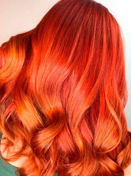 Фото №20: Модное омбре для рыжих волос.