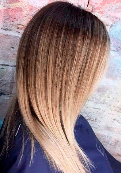 Фото №27: Модное окрашивание русых волос 2020.