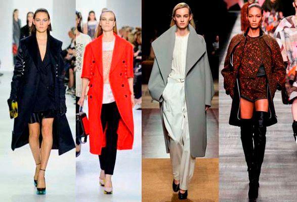 Модные пальто осень зима