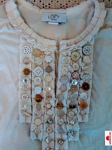 Декор старый одежды своими руками