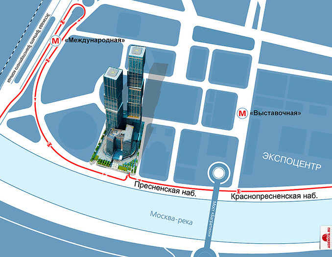 Схема проезда Город столиц