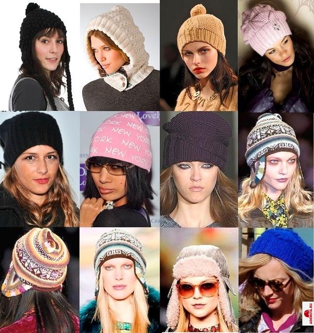 b Вязаные шапки береты кепки /b.