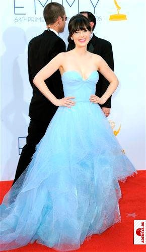 Zooey Deschanel, 64th Annual Emmy Awards